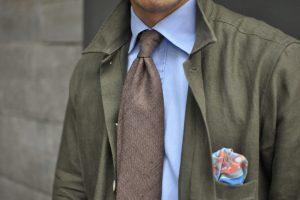 Drake's Silk Tie and Overshirt