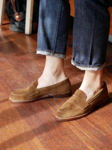 รองเท้า Alden Snuff Suede LHS Penny Loafers