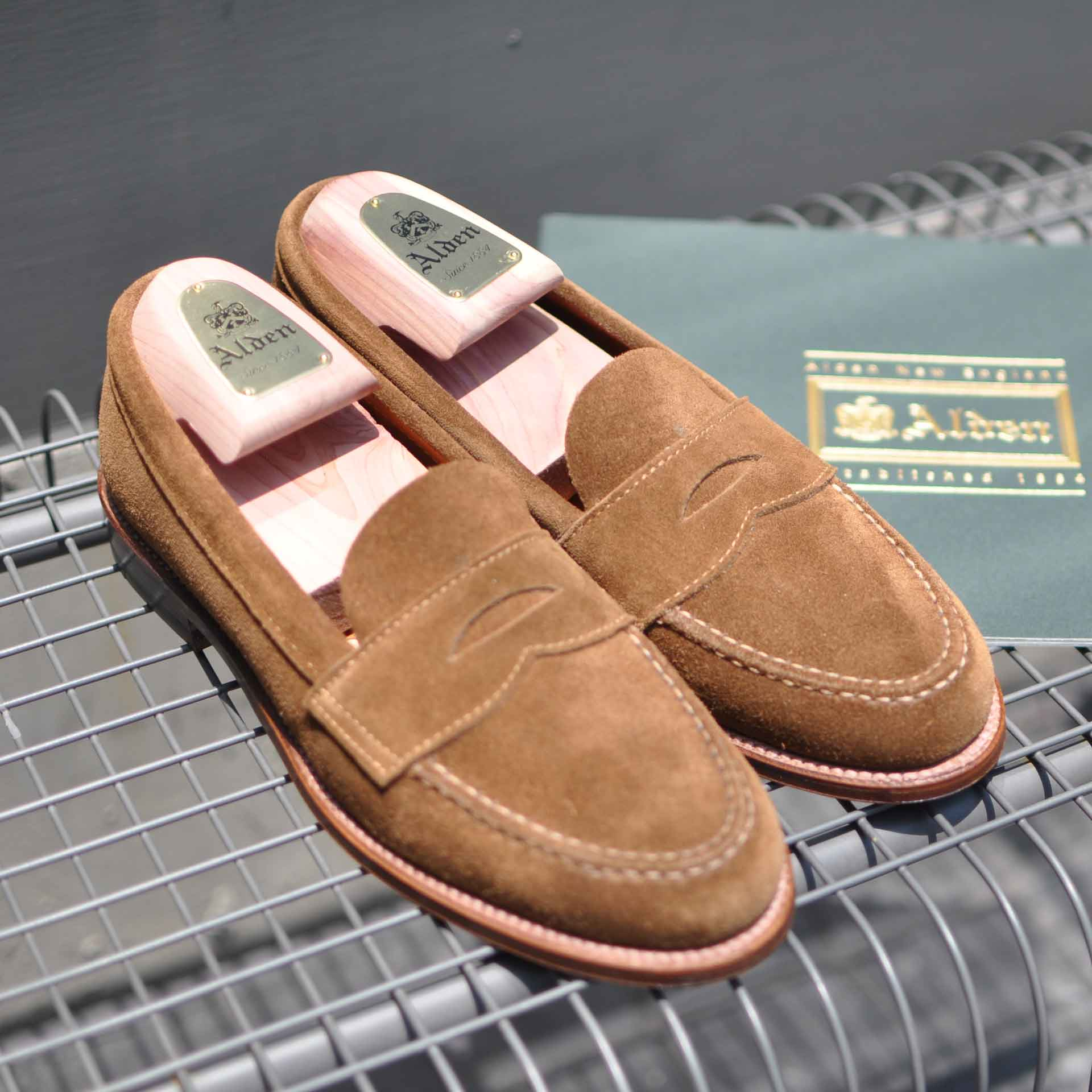 Alden LHS Suede Penny Loafers