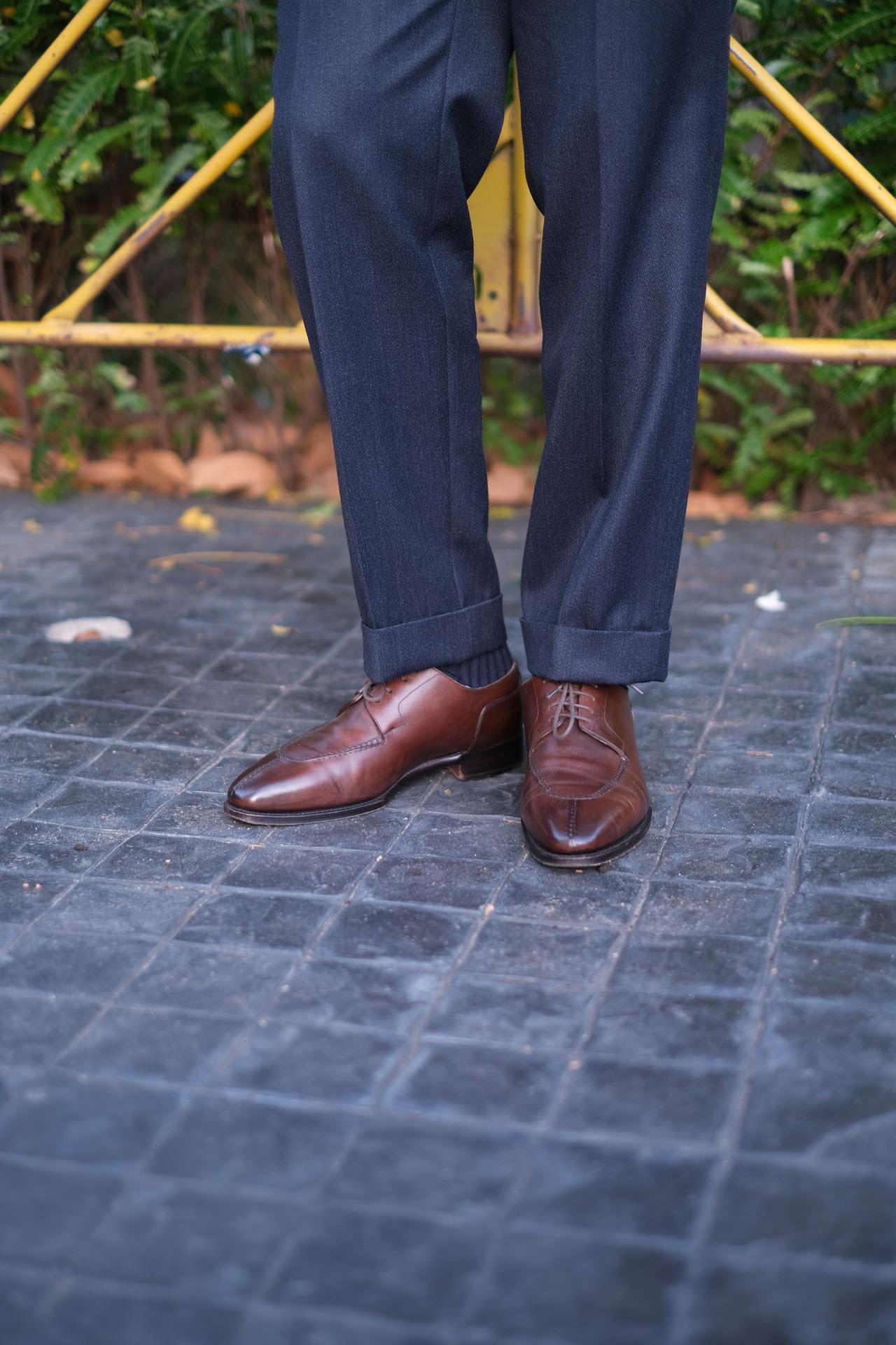 Fugashin Split Toe Derby Shoes