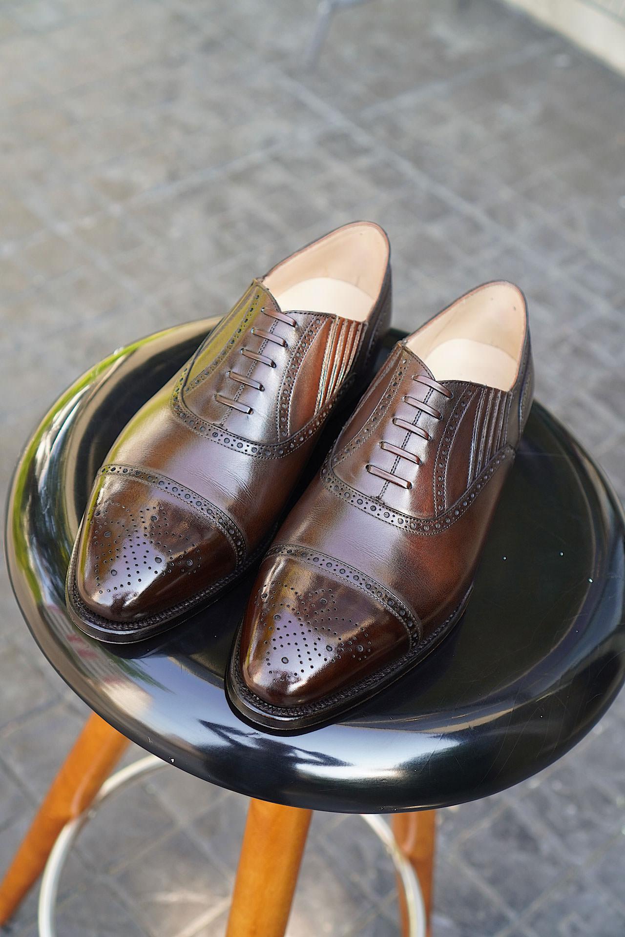 รองเท้า Lazyman สีน้ำตาล