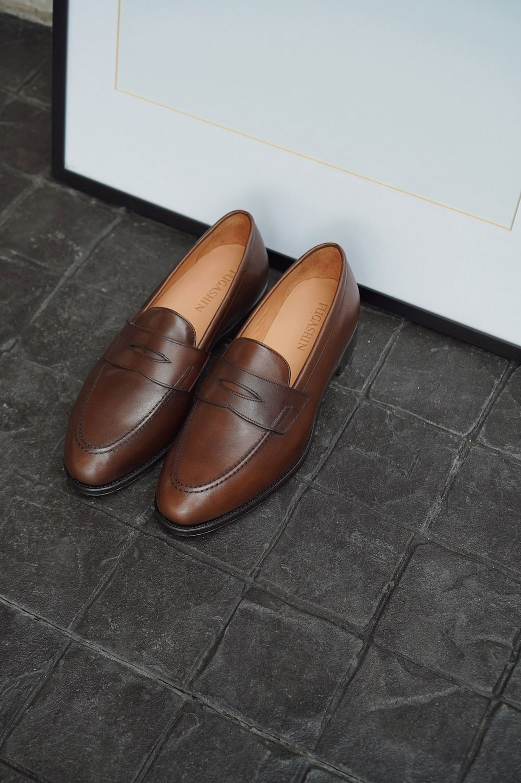 Fugashin New Last Penny Loafers - Brown