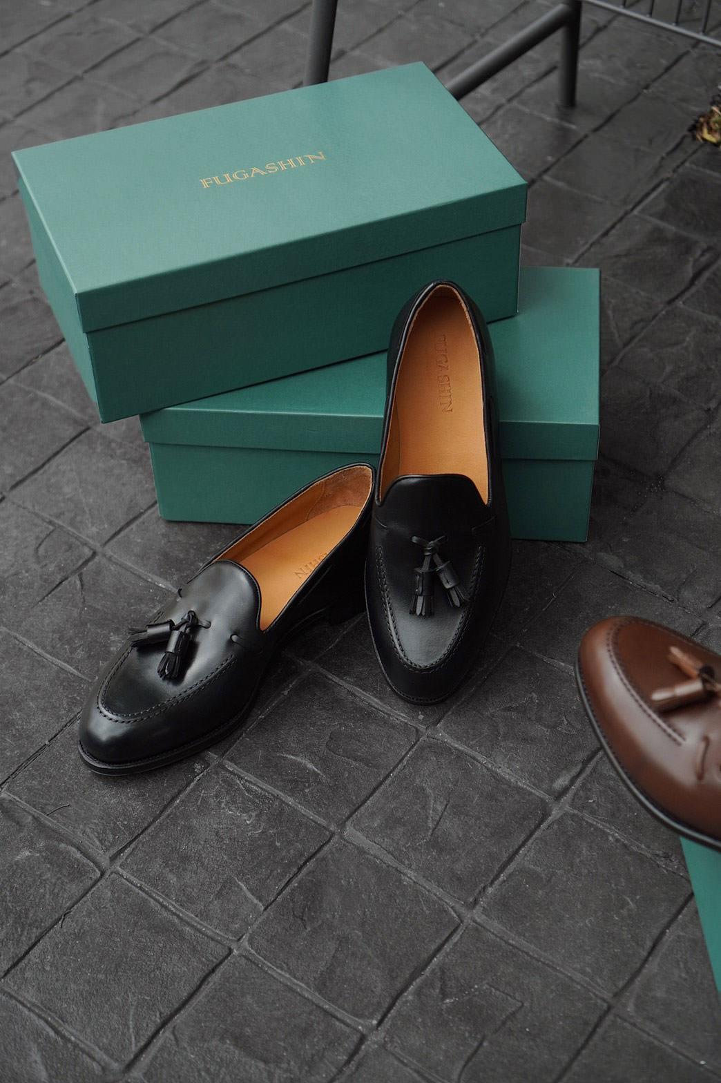 Fugashin New Last Tassel Loafers - Black