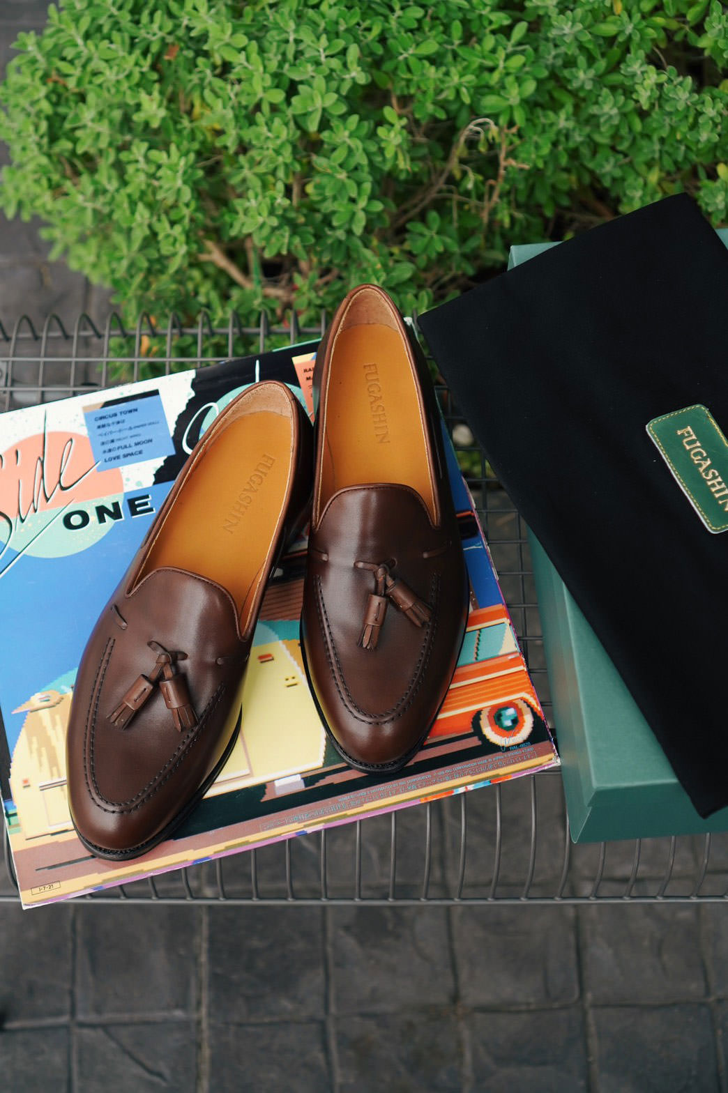 Fugashin New Last Tassel Loafers - Brown